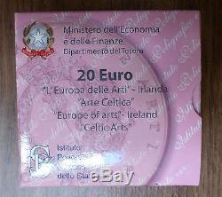 Italy 2007 Gold Proof Tara Brooch Celtic Sailing Vessel 20 Euro Ireland COA UNC