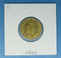 Italy 20 Lire 1882 Umberto UNC Gold. 1867 AGW