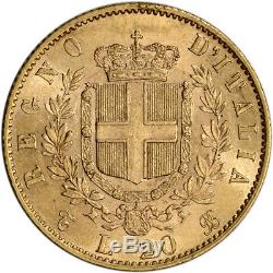 Italy Gold 20 Lire Vittorio Emanuele (. 1867 oz) XF/AU Random Date