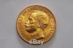 Italy Gold Coin. 50 Lire 1911. Vittorio Emanuele III KM# 54