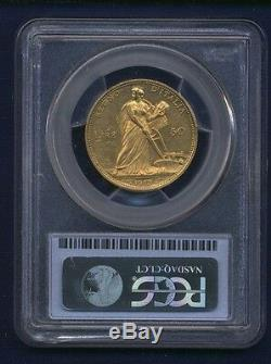 Italy Kingdom 1912-r 50 Lire Uncirculated Gold Coin, Pcgs Certified Ms62