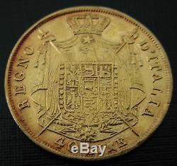 Italy Kingdom of Napoleon 1810M Gold 40 Lire XF AU