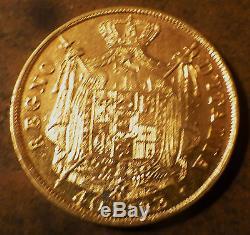 Italy, Kingdom of Napoleon 40 Lire Gold, 1812-M, Lustrous BU