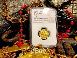 Italy, Ngc 67 Venice 1400-13 Ducat Gold Coin Finest Known Jesus Christ Gospel
