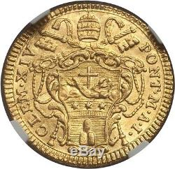Italy, Papal States 1769-i Gold 1 Zecchino / Ngc Ms-62