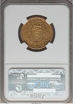 Italy Sardinia 1831 40 lire NGC AU-50