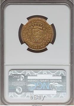 Italy Sardinia 1931 40 lire NGC AU-50
