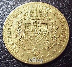 Italy / Sardinia 20 Lire 1826, VF