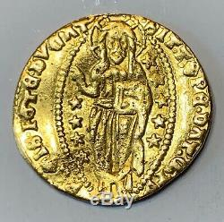 Italy. Venice. Antonio Venier! Ducato 1382-1400 Ad Scarce! Choice Coin