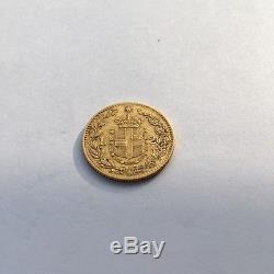 Italy gold 20 Lire 1880R Umberto I KM# 21