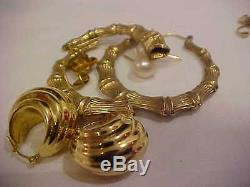 Lot 47.1 Gram 18k 14k 10k Charm Bracelet Jabel Coin Milro Wedding Ring 14k Free