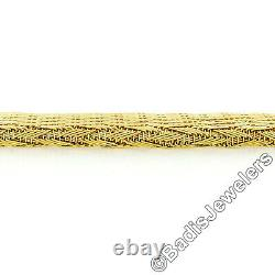 MINT Roberto Coin 18k Yellow Gold 15 Graduated Woven Silk Mesh Chain Necklace