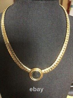 Magnificent Italy 18k Gold Ancient Coin Necklace 15.5. 60% Off