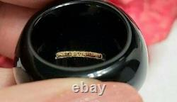 Milor Italy 14k Gold Lira Coin, Black Onyx Ring Size 10 Mint Condition