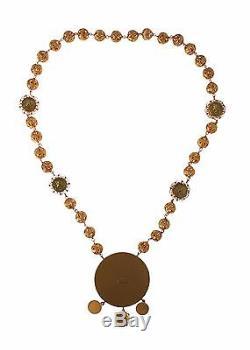 NEW $1080 DOLCE & GABBANA Gold Brass MONETE Statement Roman Coin Necklace Chain