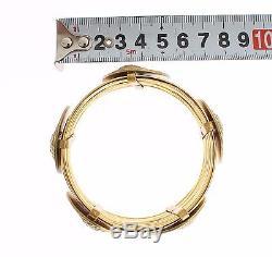 NEW $1450 DOLCE & GABBANA Bracelet MONETE Gold Brass SICILY Coin Wide Bangle