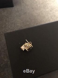 NEW Roberto Coin Smokey Quartz MOP 18K Yellow Gold Stud Earrings Italy $670