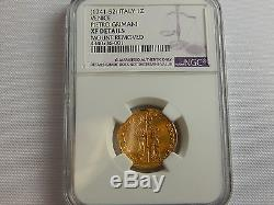 Ngc 1741-52 Italy Iz Venice Pietro Grimani Xf Deatils Mount Removed Gold Coin