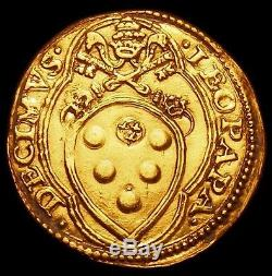 NICE Papal States Gold Fiorino di Camera of Leone X (1513-1521) MEDICI POPE