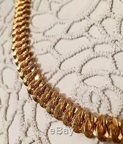 NWT $3850 ROBERTO COIN 18K Rose Gold Intricate Chain 16 Necklace Made in Italy