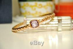 NWT The Fifth Season Roberto Coin Amethyst Rose Gold Bangle Bracelet Large $550