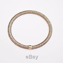 New Authentic 18k Rose Gold Regular Primavera Mesh Bracelet-Roberto Coin