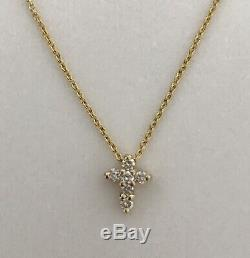 New Authentic Tiny Treasures Diamond Baby Cross Necklace by Roberto Coin