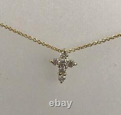 New Authentic Tiny Treasures Diamond Baby Cross Necklace by Roberto Coin