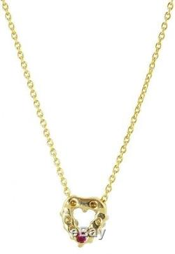New Authentic Tiny Treasures Yellow Gold Heart Necklace by Roberto Coin
