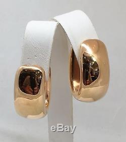 New Roberto Coin Hoop 18k Rose Gold Earrings Italy