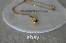New Roberto Coin Kiss Emoji 18K Yellow Gold Diamond Pendant Necklace $900