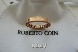 New Roberto Coin Symphony Princess Band Ring 18K Rose Gold Size 6.5