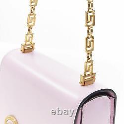 New VERSACE 2018 Tribute Icon pink gold Medusa coin Greca chain crossbody bag