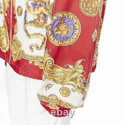 New VERSACE Limited Gold Pig Medusa Medallion Coin Baroque print hoodie IT56 3XL