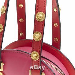 New VERSACE Tribute Medallion gold Medusa coin pink satchel small shoulder bag