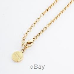 New VERSACE gold plated metal Medusa vintage coin pendant necklace