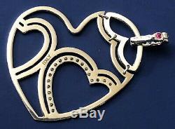Original 18K WithG Roberto Coin Diamond Heart Pendant