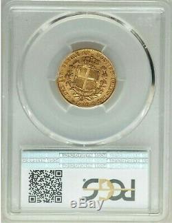 PCGS ITALY-SARDINIA GOLD 20 LIRE 1842 P XF45 m