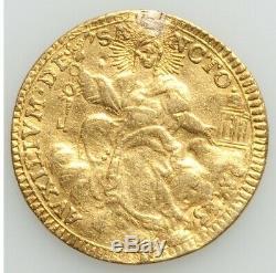 Papal Vatican Gold Zecchino 1775 Pius VI Rare! CV Vf $950, Xf $1600. M5