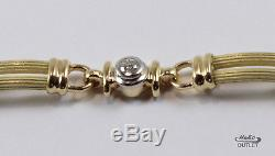 RARE VINTAGE ROBERTO COIN 18KT YELLOW GOLD with 1ct DIAMOND COLUMN BRACELET