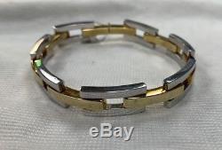 RARE Vintage 18K GOLD Roberto Coin link bracelet 29.8 GRAMS Yellow & White