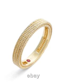 ROBERTO COIN 18K Gold Symphony Barocco Braided Band Ring Sz 6.5 Italy NEW