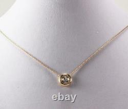 ROBERTO COIN 18K ROSE GOLD DIAMOND 0.50ctw BEZEL SET CLUSTER NECKLACE PENDANT