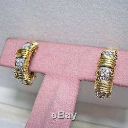 ROBERTO COIN 18K Vintage Appassionata Convertible Pierced Clip Earrings $2,940