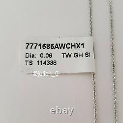 ROBERTO COIN 18K White Gold Diamond 0.06TW Barocco Pendant Necklace $1100