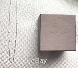 ROBERTO COIN 18K White Gold Diamond Station Necklace16/18NWOT$2580 Retail