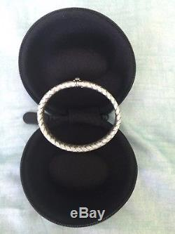 ROBERTO COIN 18K White Gold Silk Weave BRACELET-25.19 gms ($3,750.00 RETAIL)
