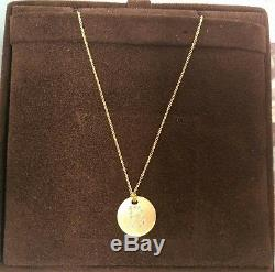 Roberto Coin 18k Yellow Gold Diamond B Letter Initial Disc Necklace Pendant