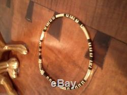 ROBERTO COIN 18K YELLOW GOLD and BLACK RUBBER AFRICA BRACELET #1