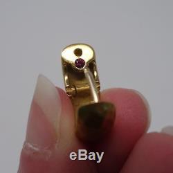 ROBERTO COIN 18K Yellow Gold Hammered Huggies Hoops Earrings Diamond Drop